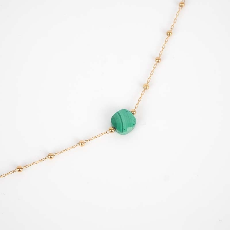 Gold necklace Anty green...