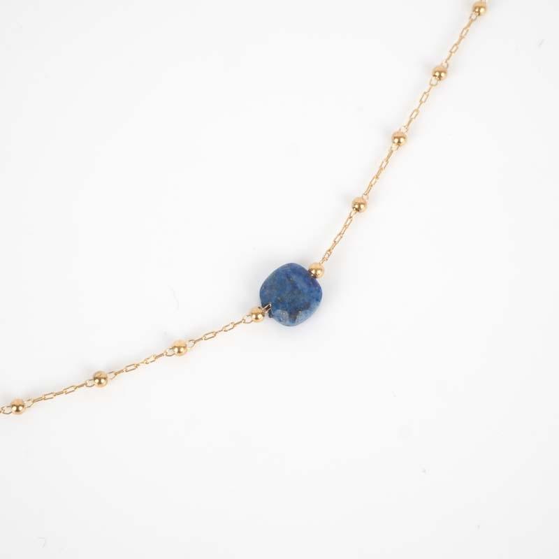 Collier Anty bleu acier or...