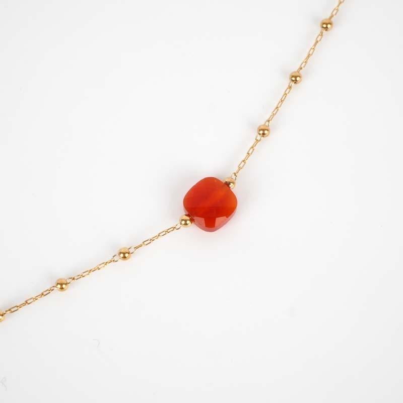 Collier Anty rouge acier or...