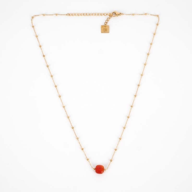 Necklace Anty red stone -...