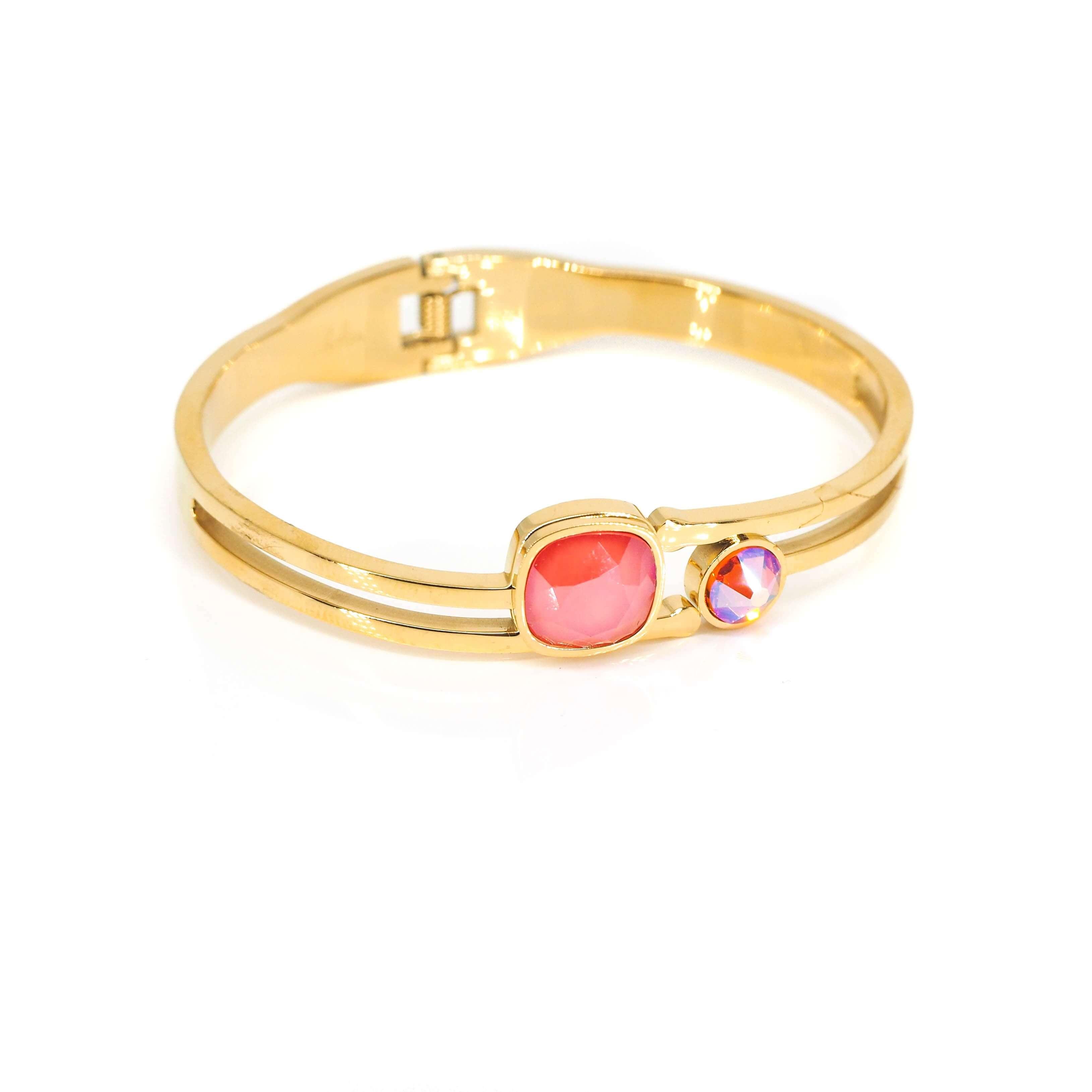 Bracelet jonc duo insolite corail - Bohm Paris