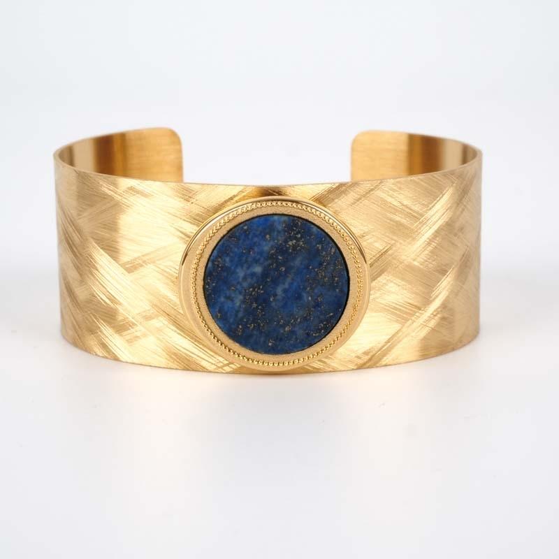 Bracelet Bata bleu acier or...