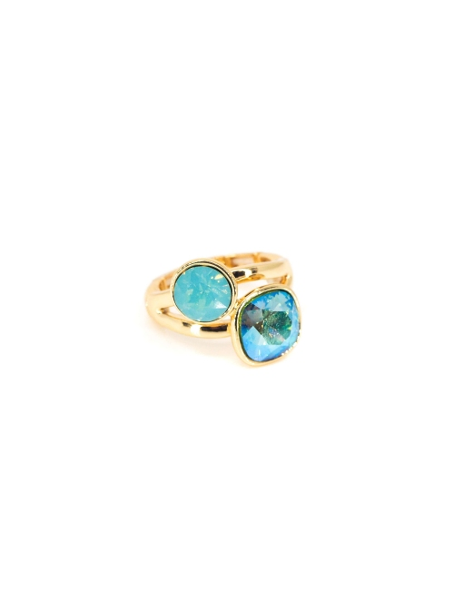 Duo cristal pacific gold ring - Bohm paris