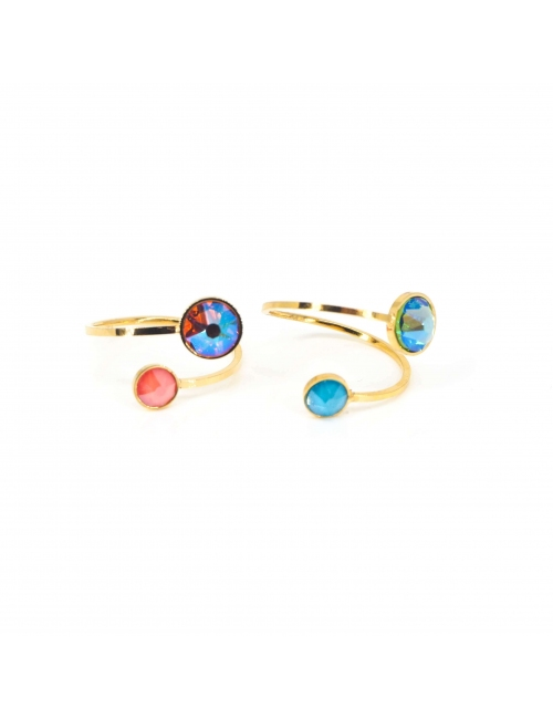 Mini duality pacific gold ring - Bohm Paris