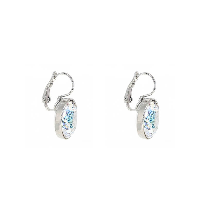Boucles d'oreilles ovales crystal patina - Bohm Paris