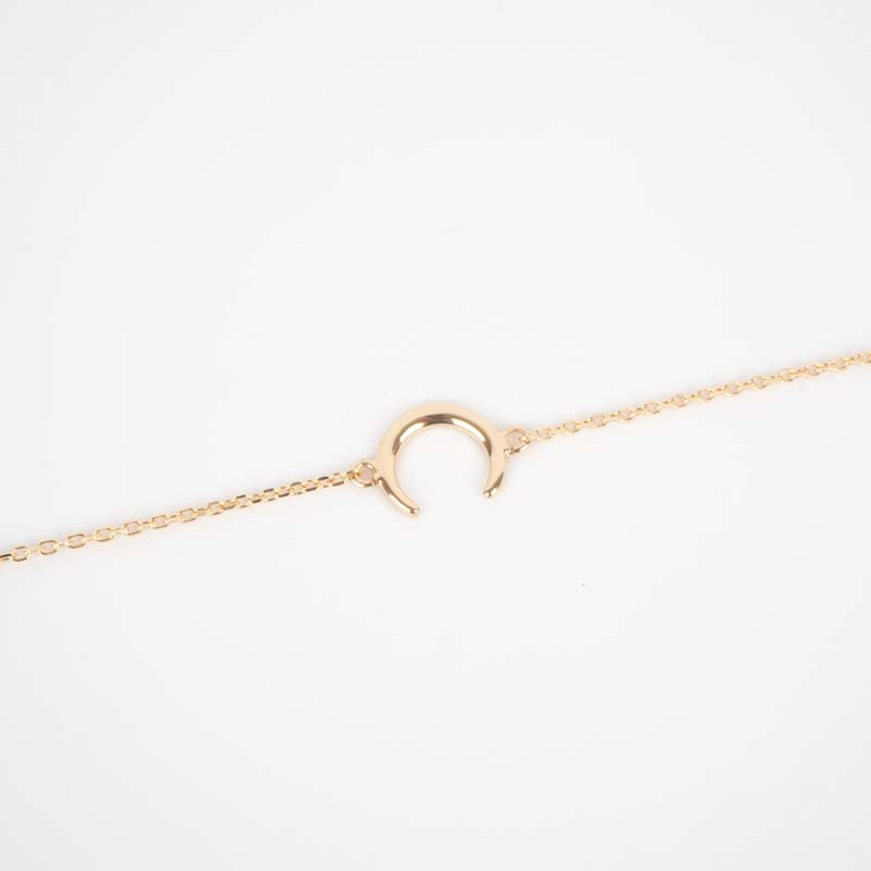Bracelet corne plaqué or -...