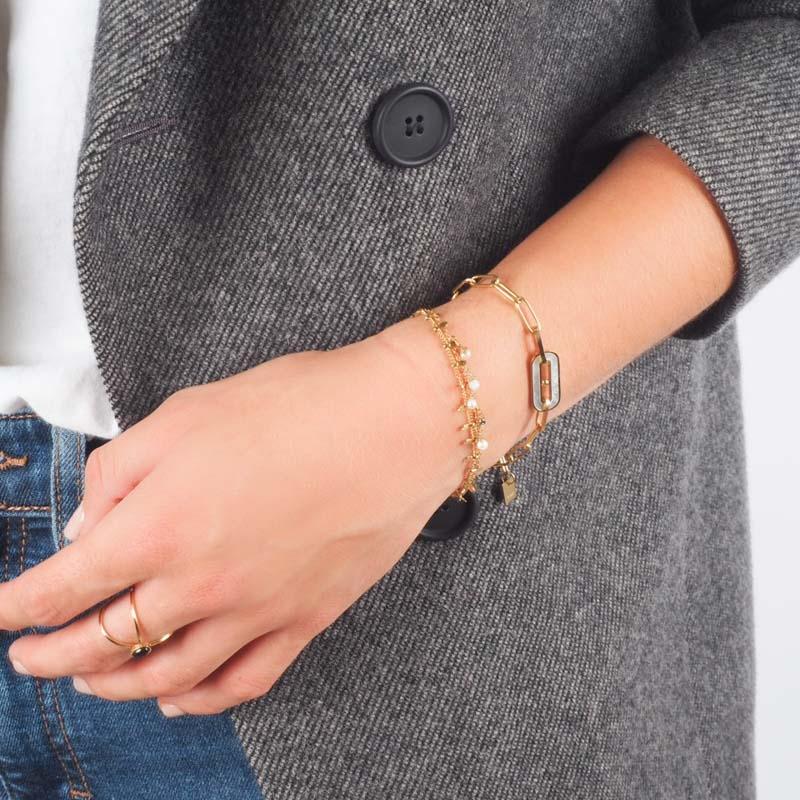 Falls bracelet steel white...