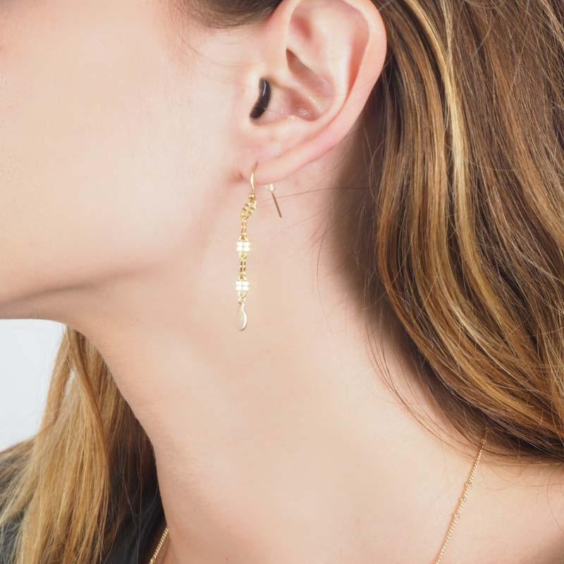 Boucles d'oreilles maillon...