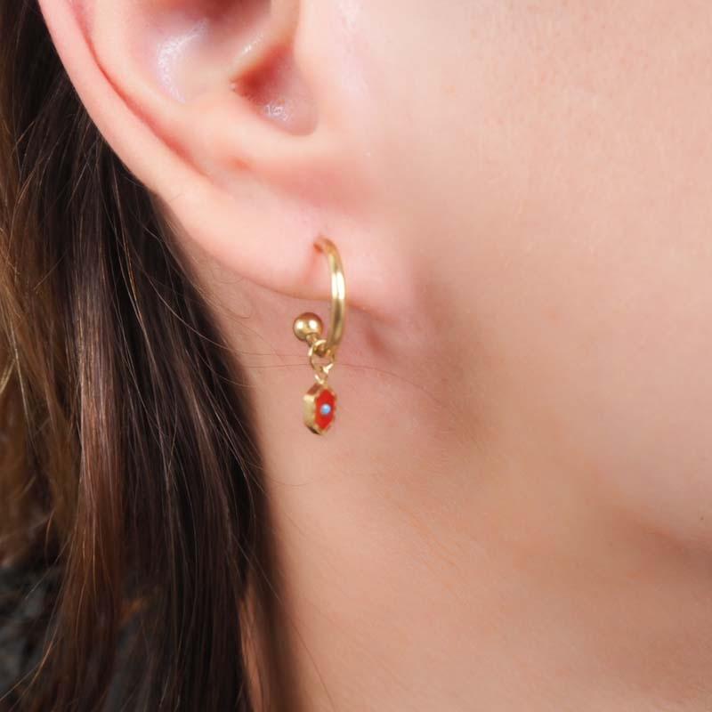 Glazed ceramic earrings -...