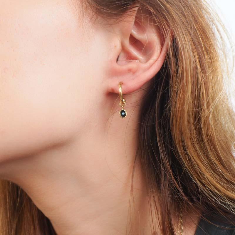 Enamelled ceramic earrings...