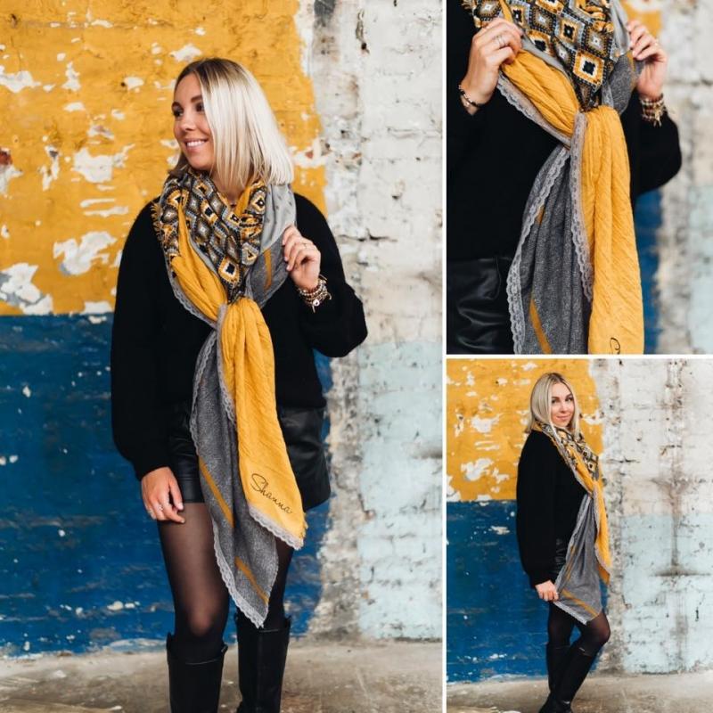 Foulard jaune ocre - Shanna
