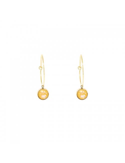 Mini round yellow gold hoop earrings - Bohm Paris