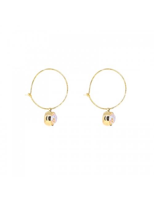 Boucles d'oreilles créoles mini rond gold - Bohm Paris
