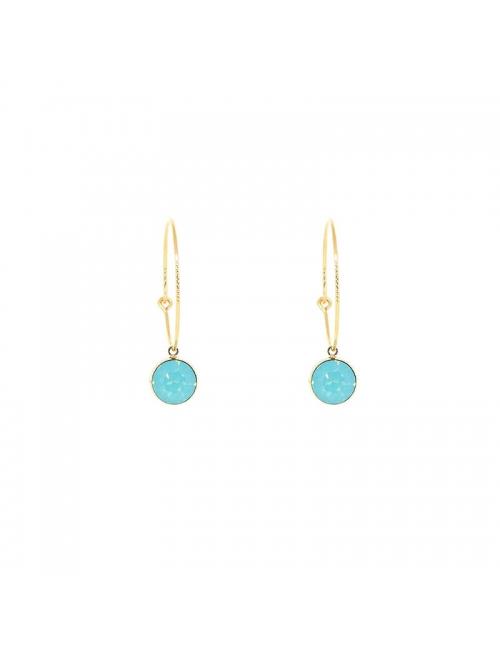 Mini round pacific gold hoop earrings - Bohm Paris