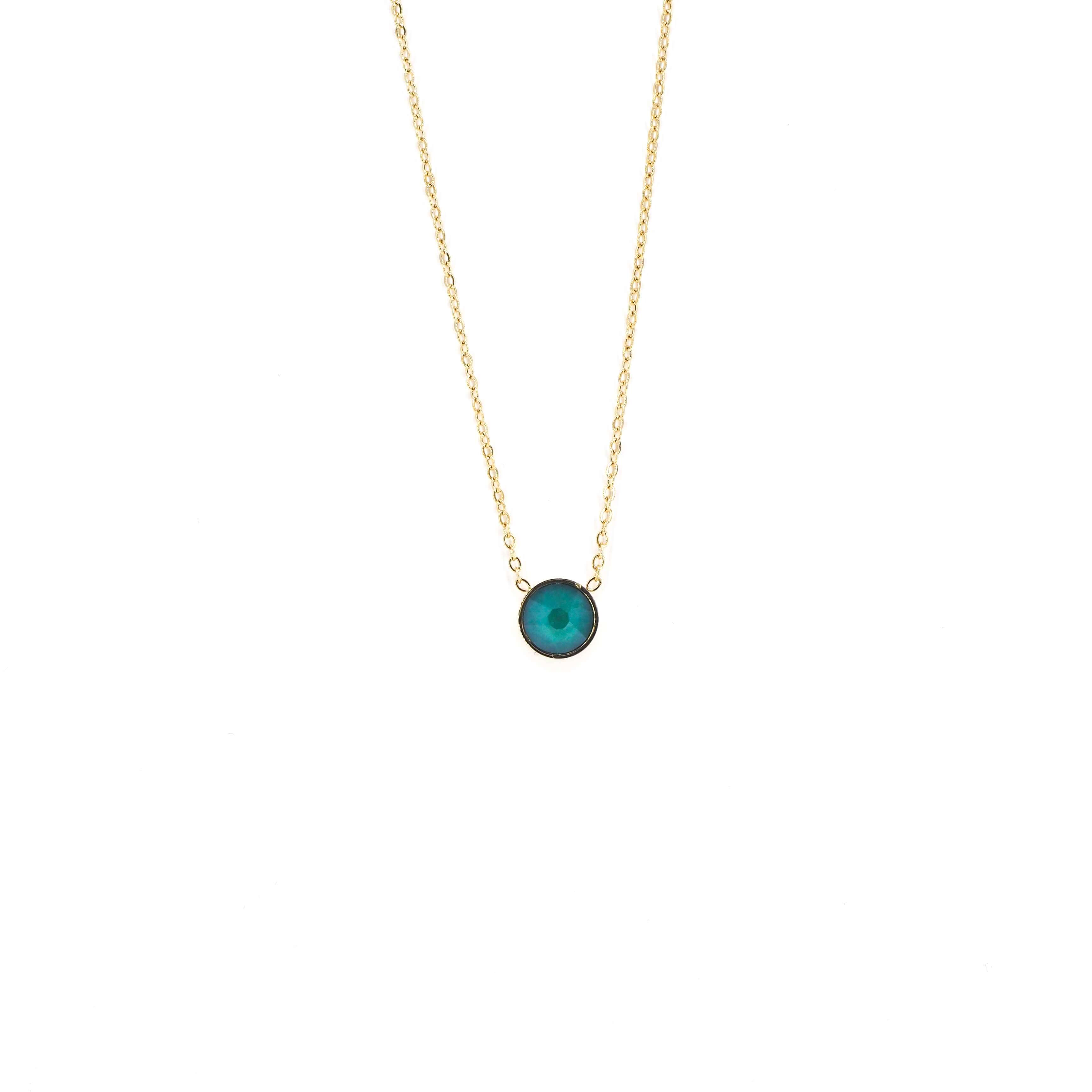 Collier mini rond green - Bohm Paris