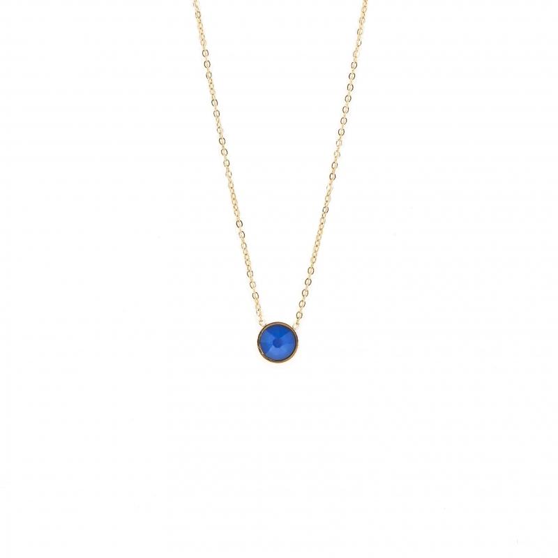 Collier mini rond blue - Bohm Paris