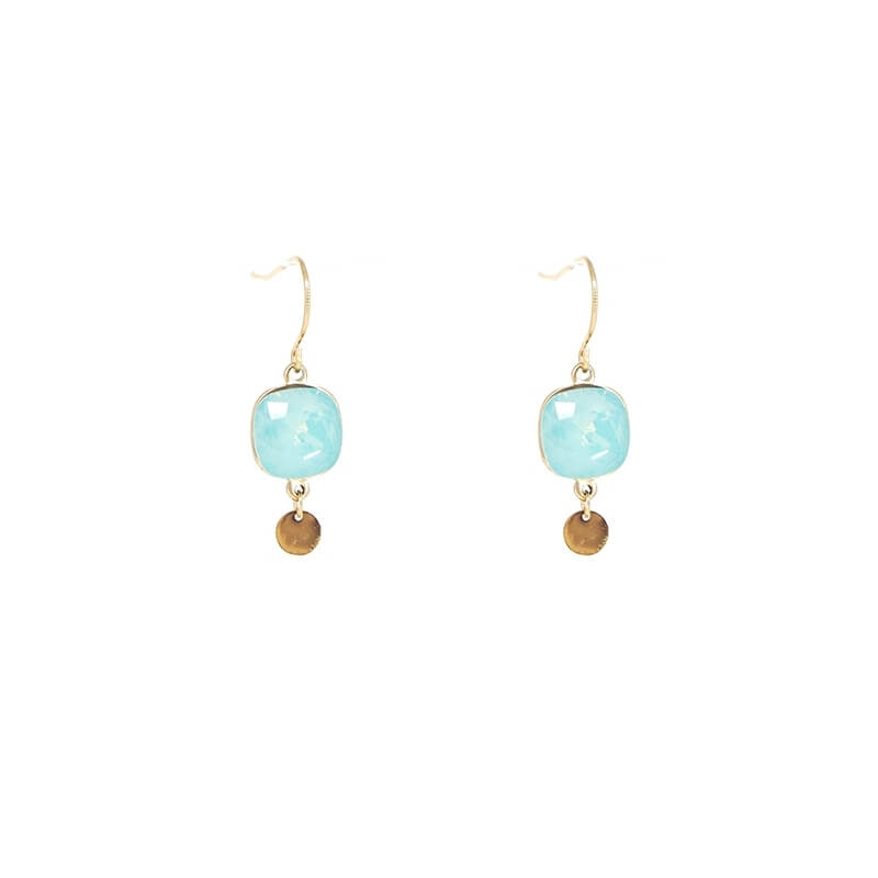 Boucles d'oreilles square bis pacific - Bohm Paris