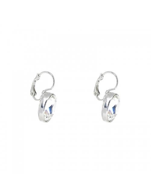 Boucles d'oreilles ovales crystal - Bohm Paris