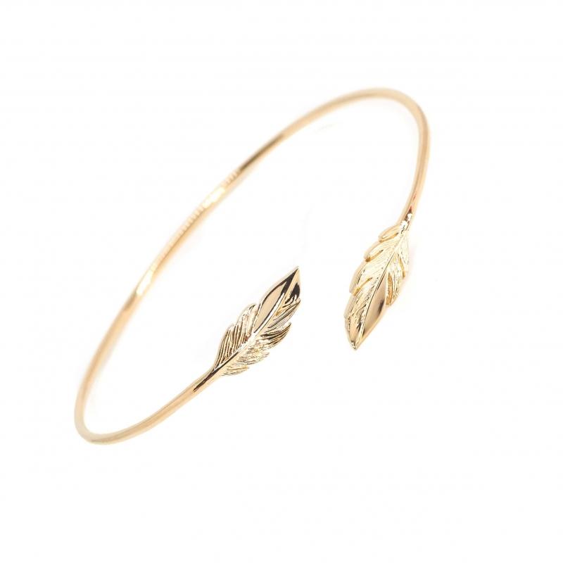 Bracelet jonc plumes duo en...