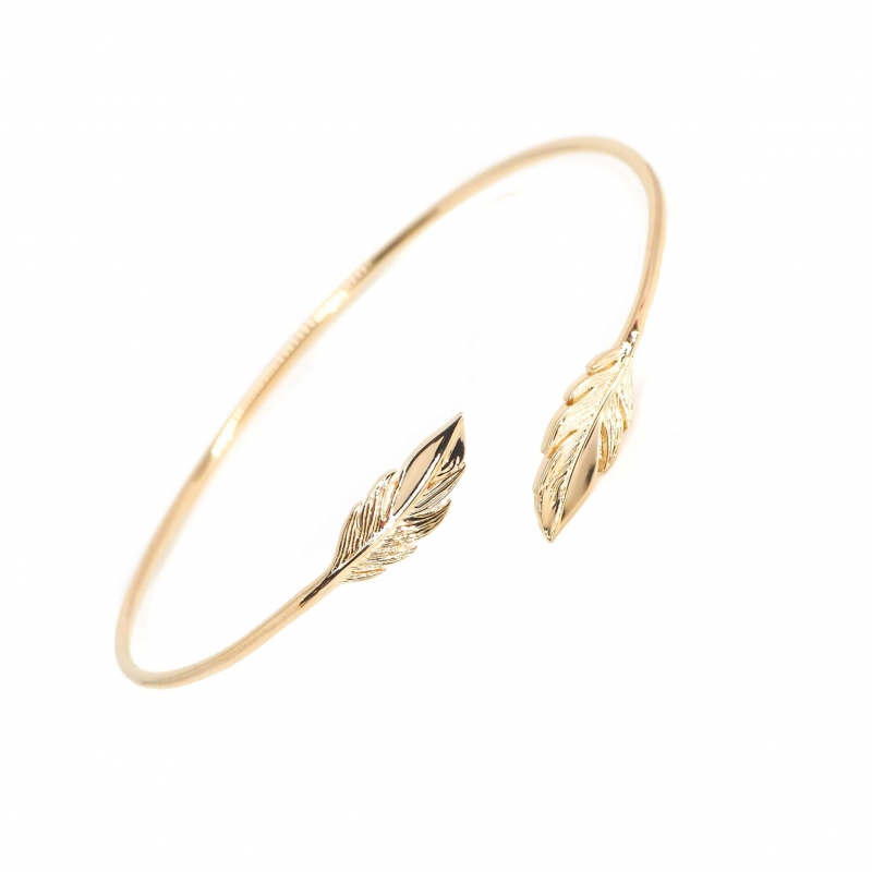 Feather duo gold bangle...