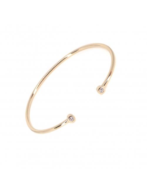 Brillant gold bangle bracelet - Pomme Cannelle
