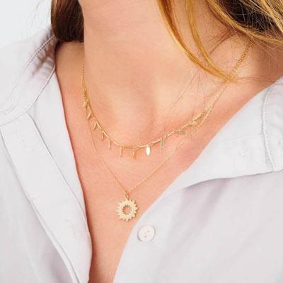 Multi-row necklaces